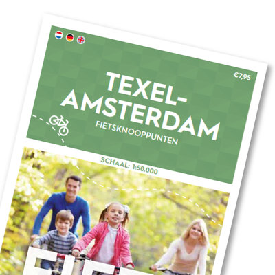 Cycle map Texel - Amsterdam