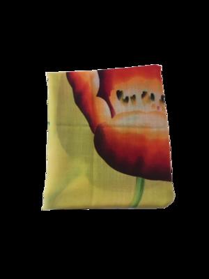 Sjaal met bloemmotief geel
