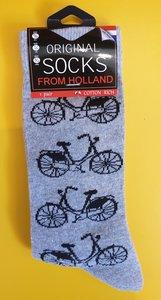 Sokken met fietsen print