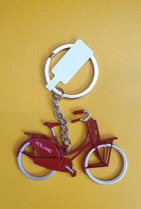 Sleutelhanger rode fiets