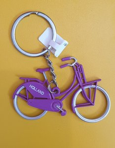 keychain purple bicycle