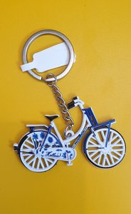 keychain red bicycle