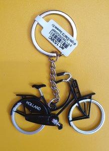 Sleutelhanger zwarte fiets
