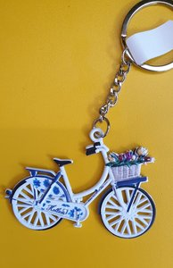 Keychain bicycle Delft Blue