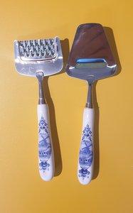 Kaasschaaf en kaasrasp mini Delfts-Blauw