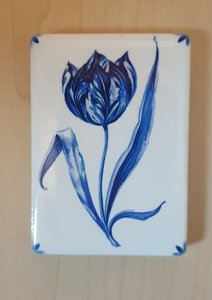 Magneet Delfts-Blauwe tulp