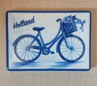 Magneet Delfts-Blauwe fiets
