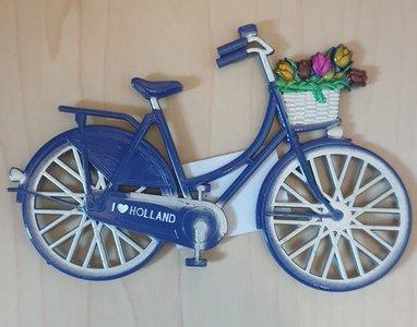 Magneet blauwe fiets