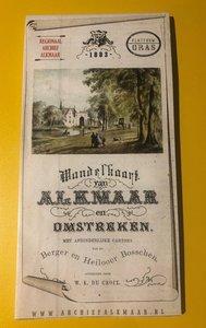Walking map of Alkmaar and surroundings from 1883