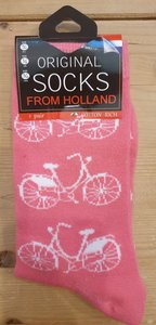 Sokken roze fiets