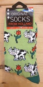 Sokken met koeien print
