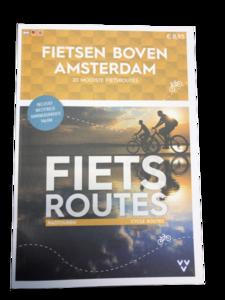 Fietsroutes boven Amsterdam